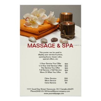 Spa Massage Beauty Salon Candle Poster
