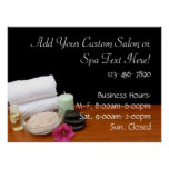 Spa/Massage/Pedicure Salon Scene Black/Colour Poster