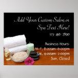 Spa/Massage/Pedicure Salon Scene Black/Colour Poster