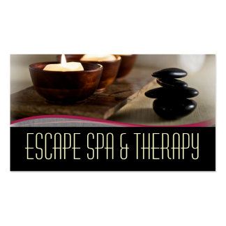 Spa Massage Therapist Clinic Wellness Business Pack Of Standard Business Cards