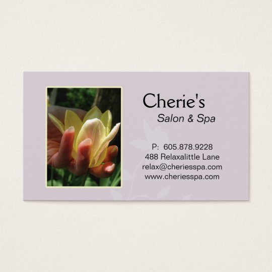 Spa - Nail Salon Manicure Tulip Business Card