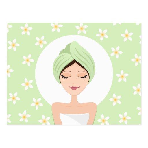 Spa or beauty salon postcard