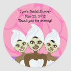 Spa Party Bridal Shower / Birthday Favour Sticker