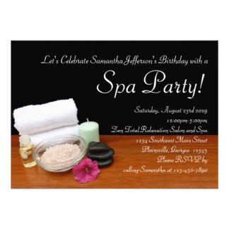 Spa Party Invitations, Salon Scene Black/Color
