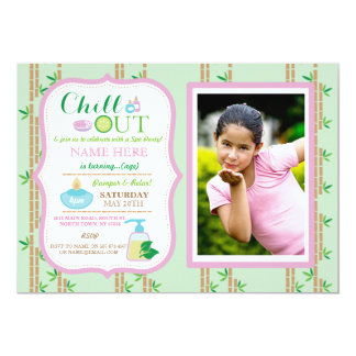 Spa Photo Birthday Party Relax Pamper Girls Invite