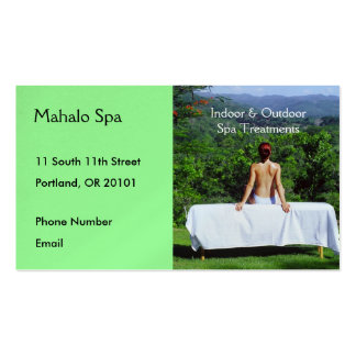 Spa Photo of Outdoor Massage Table Pack Of Standard Business Cards