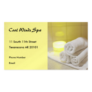 Spa Photo with towels and candle Pack Of Standard Business Cards