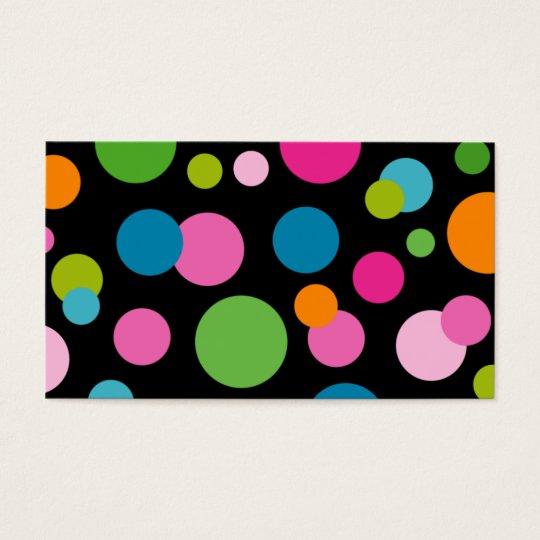 Spa - Salon Colour Circles Business Card black