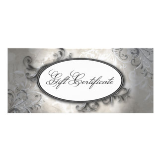 Spa Salon Elegant Vintage Swirl Gift Certificate Rack Card