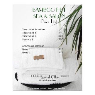 Spa Salon massage price list A5 flyer