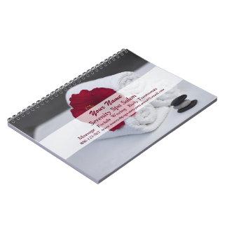 Spa Salon Massage Towels Hibiscus Spiral Notebook