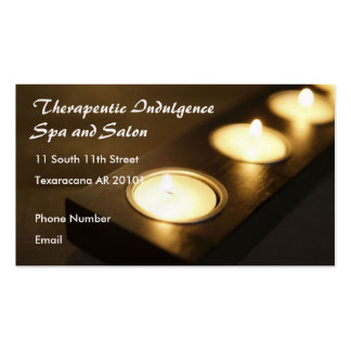 Spa Setting Candles Business Card