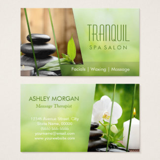 SPA Still Life Beautiful Green Massage Salon Business Card