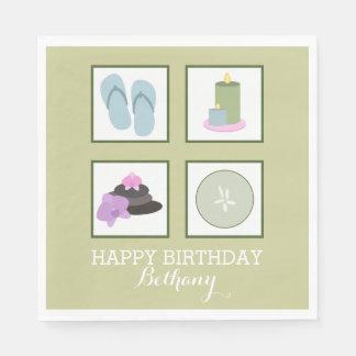Spa Theme Birthday Party Napkins Disposable Napkin