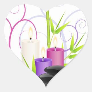 Spa theme heart sticker