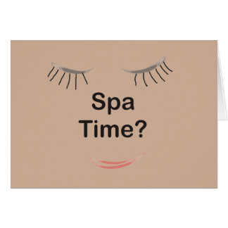 Spa Time Greeting Card