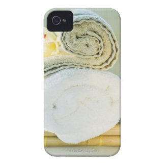 Spa towels and tropical flower iPhone 4 Case-Mate case