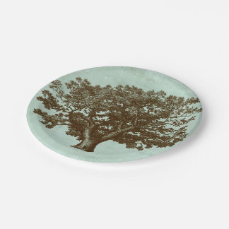 Spa Tree IV 7 Inch Paper Plate