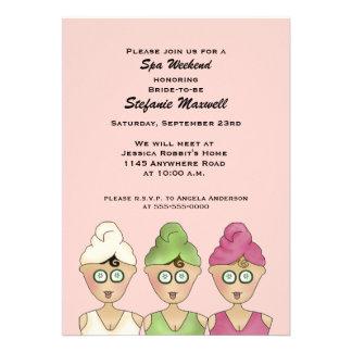 Spa Weekend Bridal Shower Invitation