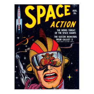 Space Action #2 Vintage Sci Fi Comic Book Postcard