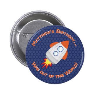 Space Adventure 6 Cm Round Badge
