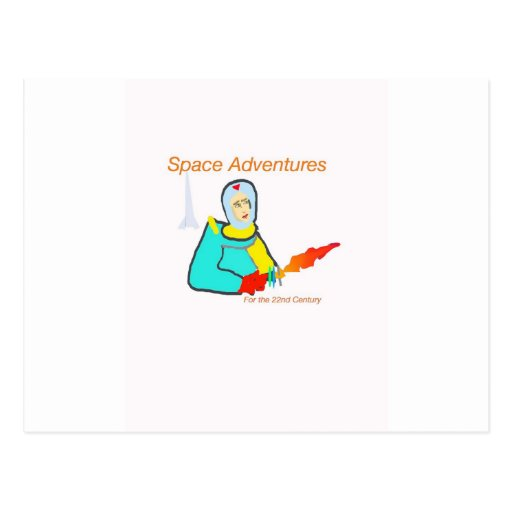 Space Adventure Post Card