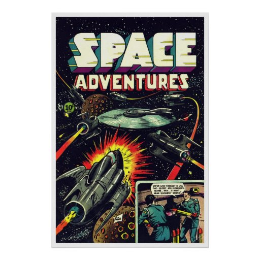 Space Adventures #4 (1953) Poster