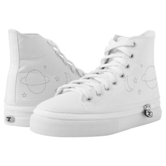 Space Aesthetic Zipz High Top Shoes