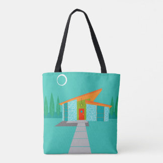 Space Age Cartoon All-Over Print Tote Bag