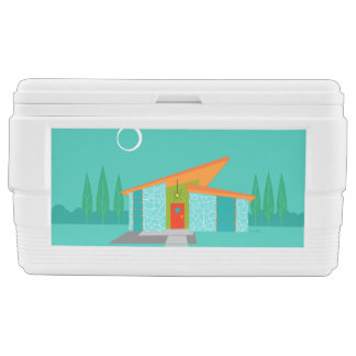 Space Age Cartoon House Igloo Chest Cooler