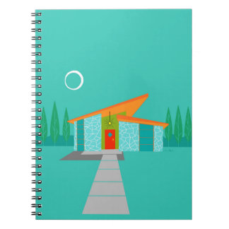 Space Age Cartoon House Notebook