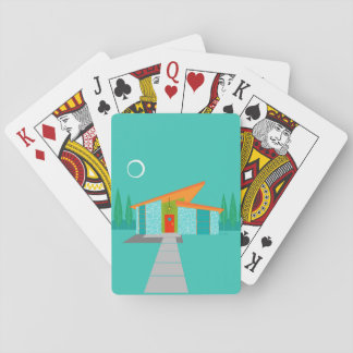 Space Age Cartoon House Playing Cards