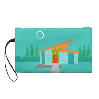 Space Age Cartoon Panel Wristlet