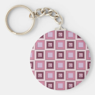 Space Age Checkerboard Basic Round Button Key Ring