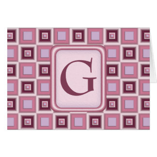 Space Age Checkerboard Greeting Card