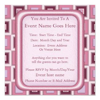 Space Age Checkerboard Personalized Invite