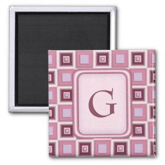 Space Age Checkerboard Square Magnet