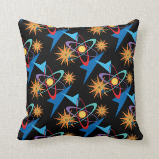 Space Age Retro Multicolored Pattern Cushion