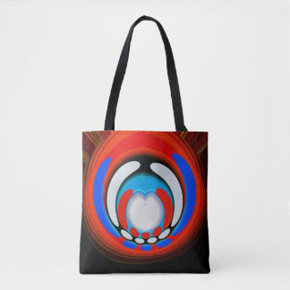 Space age travel tote bag