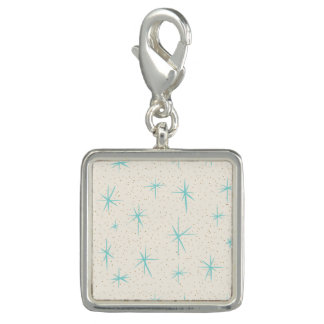 Space Age Turquoise Starbursts Charm