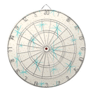 Space Age Turquoise Starbursts Dart Board