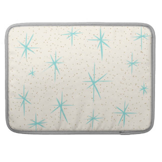 Space Age Turquoise Starbursts MacBook Pro Sleeve For MacBook Pro