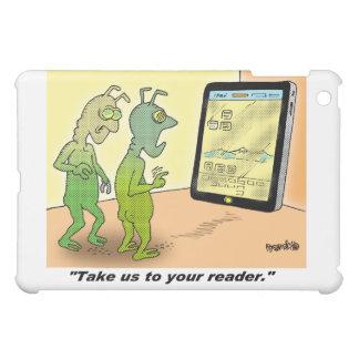 Space Alien Cartoon iPad Mini Case