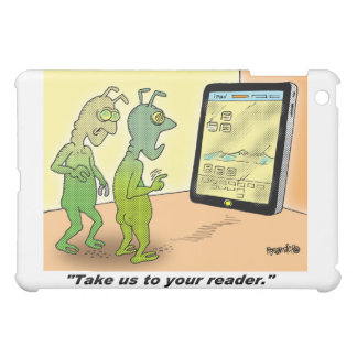 Space Alien Cartoon iPad Mini Cases