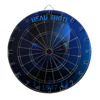 "Space alien ""HEAD SHOT!"" Dartboard"