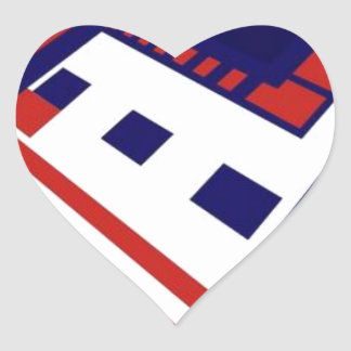 Space and Art Heart Sticker