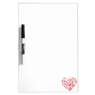 Space And Science Heart Dry Erase Board