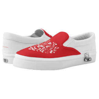 Space And Science Heart Slip-On Shoes