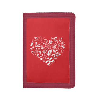 Space And Science Heart Trifold Wallet