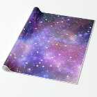 Space and stars wrapping paper